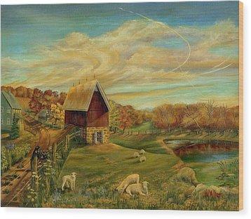 Kookaree Wood Print by William Allen