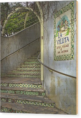 La Villita  Wood Print by David and Carol Kelly