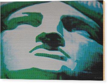 Lady Liberty Wood Print by Rob Hans