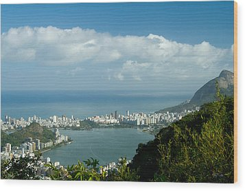 Lagoa Rodrigo De Freitas In Rio De Janeiro Wood Print