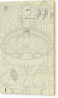 Laicepse Rodatam  Wood Print