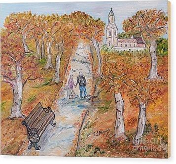 L'autunno Della Vita Wood Print by Loredana Messina