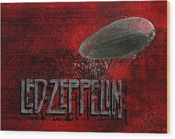 Led Zeppelin Wood Print by Jack Zulli