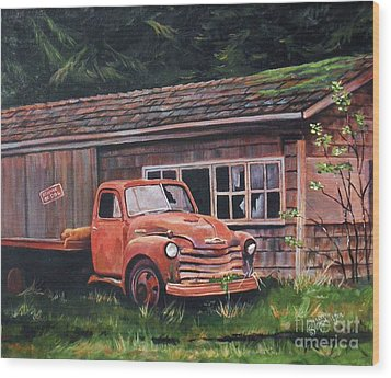 Left Behind Wood Print by Suzanne Schaefer