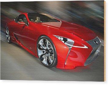 Lexus L F - L C Hybrid  2013 Wood Print