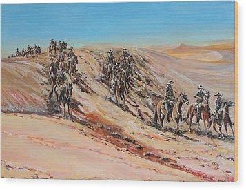 Light Horse On Patrol Wood Print by Leonie Bell