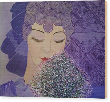 Lilac And Lace Wood Print by Judi Goodwin