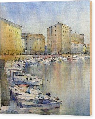 Livorno - Italy Wood Print by Natalia Eremeyeva Duarte