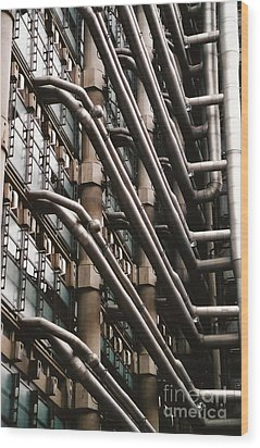 Lloyd's Of London 3 Wood Print by Dennis Knasel