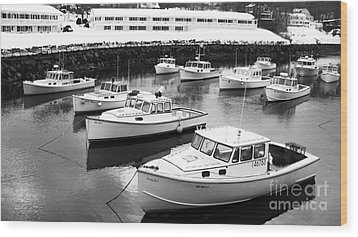 Lobster Boats Wood Print by Christy Bruna