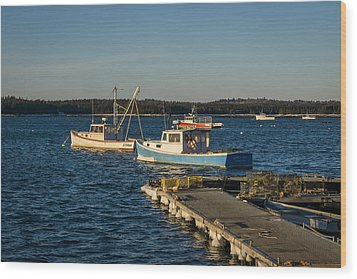 Lobster Boats Maine  Wood Print