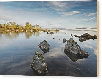 Lochan Na H-achlaise Wood Print by Stephen Taylor