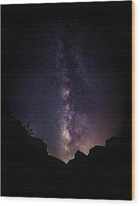 Heaven Come Down Wood Print by Rick Furmanek