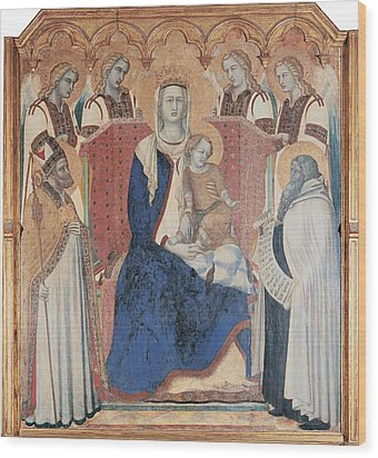 Lorenzetti Pietro, Carmine Altarpiece Wood Print by Everett