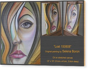 Wood Print featuring the painting Lost 150808 by Selena Boron