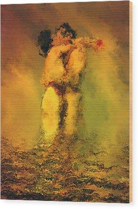 Lovers Wood Print by Kurt Van Wagner