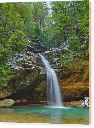 Lower Falls At Old Man's Cave Wood Print