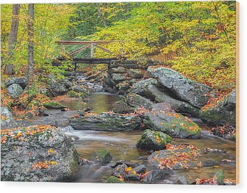 Wood Print featuring the photograph Macedonia Brook by Bill Wakeley
