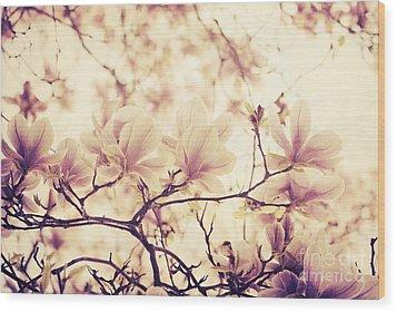 Magnolia Wood Print by Jelena Jovanovic