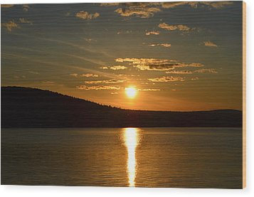 Wood Print featuring the photograph Maine Sunset by James Petersen