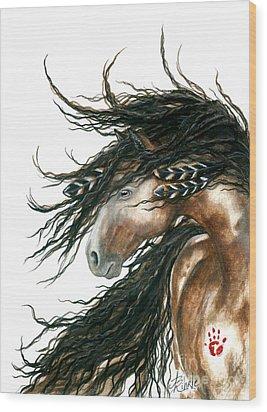 Majestic Horse Series 80 Wood Print by AmyLyn Bihrle