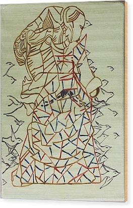 Mama Asia Wood Print by Gloria Ssali