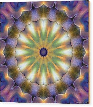 Mandala 105 Wood Print by Terry Reynoldson