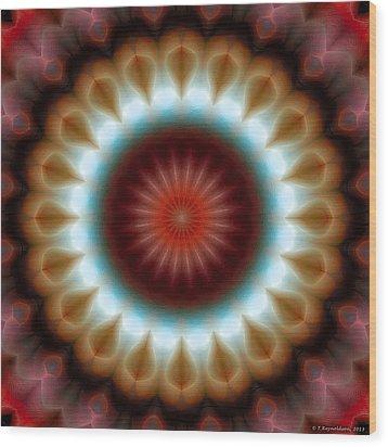 Mandala 83 Wood Print by Terry Reynoldson