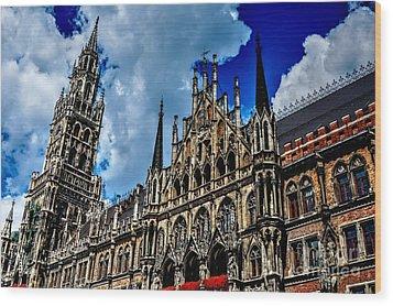 Wood Print featuring the photograph Marienplatz In Munich by Joe  Ng
