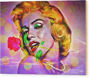 Marilyn Monroe Wood Print by Eleni Mac Synodinos