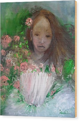 Wood Print featuring the painting Mary Rosa by Laurie L