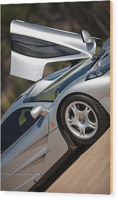 Mclaren F1 Wood Print by George Schmahl