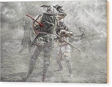 Medieval Battle Wood Print by Jaroslaw Grudzinski