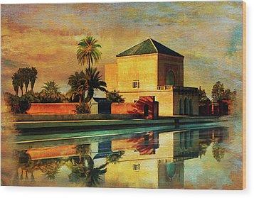 Medina Of Marakkesh Wood Print by Catf