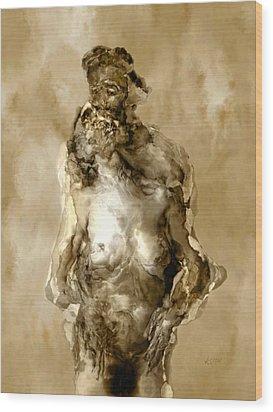 Melt Wood Print by Kurt Van Wagner