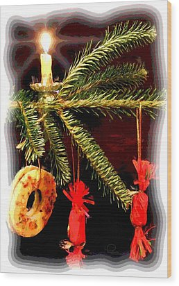 Wood Print featuring the photograph Memories Of A Christmas Past by Ludwig Keck