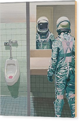 Men's Room Wood Print by Scott Listfield