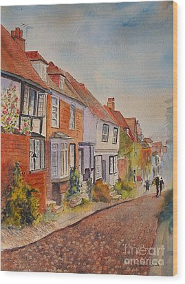 Wood Print featuring the painting Mermaid Street Rye by Beatrice Cloake