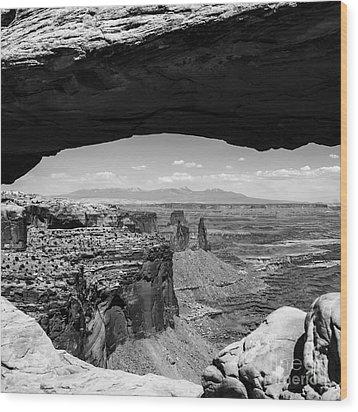 Mesa Arch Wood Print by Radek Hofman
