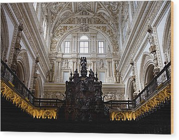 Mezquita Cathedral Interior In Cordoba Wood Print by Artur Bogacki