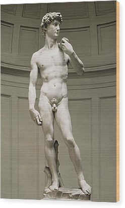 Michelangelo 1475-1564. David Wood Print by Everett