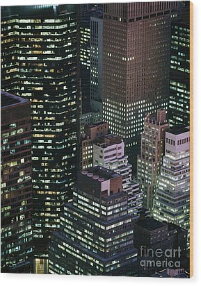 Midtown Manhattan Wood Print by Rafael Macia