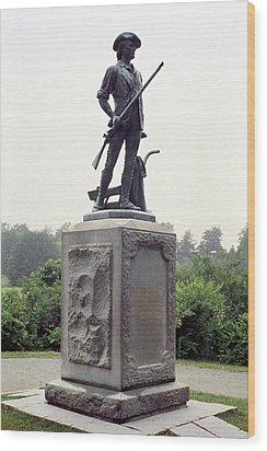 Minutemen Soldier Wood Print by Granger