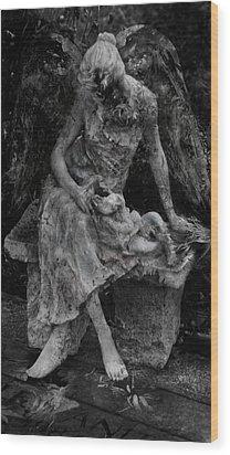 Miseries Wood Print by David Fox