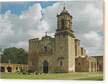 Mission San Jose Wood Print by Olivia Hardwicke