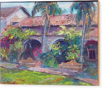 Mission San Juan Capistrano Wood Print by Renuka Pillai