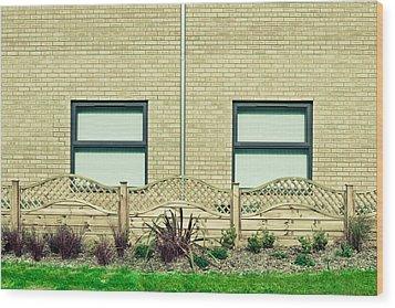 Modern Building Wood Print by Tom Gowanlock