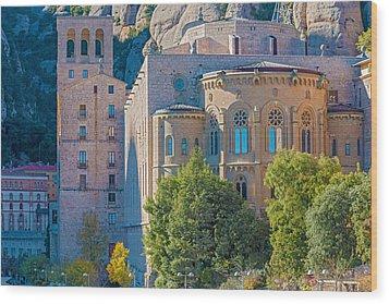 Montserrat Monastery Near Barcelona Spain Wood Print