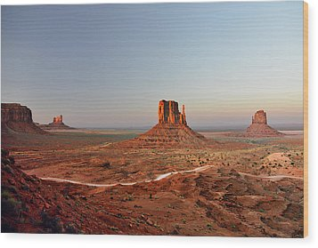Monument Valley Wood Print by Christine Till