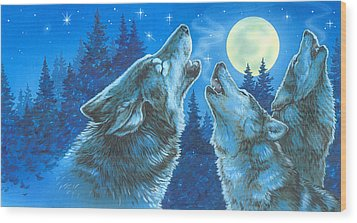 Moon Song Wood Print
